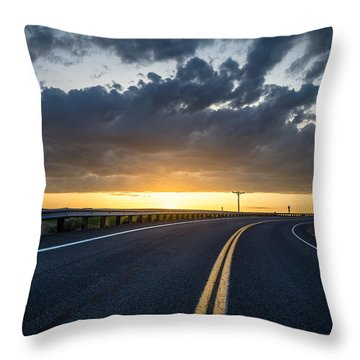Road Home Throw Pillow by Brad Stinson