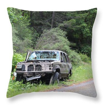 Throw Pillow featuring the photograph Road Kill by Marie Neder