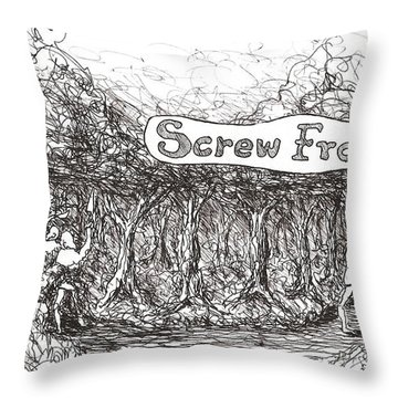 Road More Travelled Throw Pillow