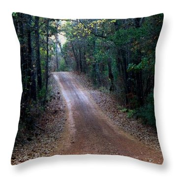 Throw Pillow featuring the photograph Road Not Taken by Betty Northcutt