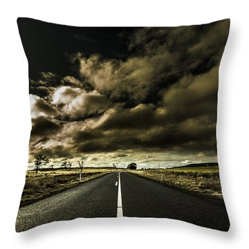 Road Of Coming Darkness Throw Pillow