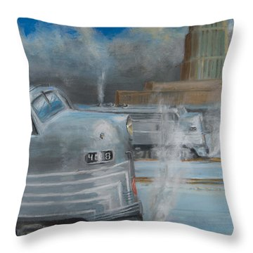 Road Power At Buffalo Throw Pillow by Christopher Jenkins