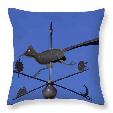 Throw Pillow featuring the photograph Road Runner Weather Vane by Joan Hartenstein
