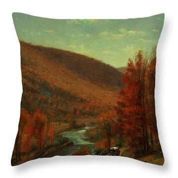 Road Through Belvedere Throw Pillow by Thomas Worthington