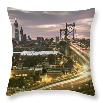 Road To Brotherly Love Throw Pillow