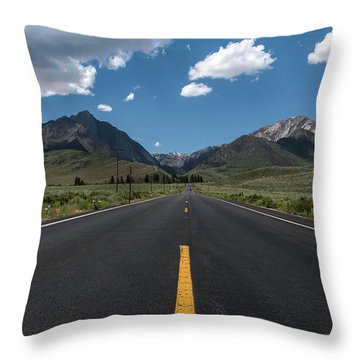 Road To Convict Lake Throw Pillow by Scott Cunningham