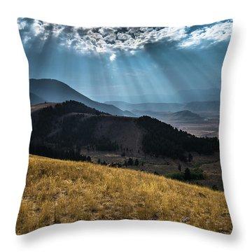 Road To Curtis Canyon Throw Pillow
