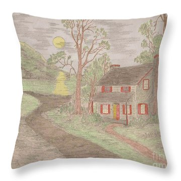 Road To Happiness Throw Pillow