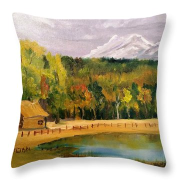 Road To Kintla Lake Throw Pillow