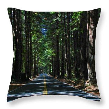 Road To Mendocino Throw Pillow