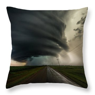 Throw Pillow featuring the photograph Road To Mesocyclone by Aaron J Groen