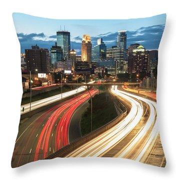 Road To Minneapolis Throw Pillow