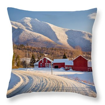 Road To Mount Mansfield Throw Pillow