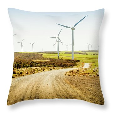 Road To Natural Energy Throw Pillow