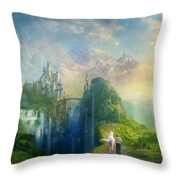 Road To Oalovah Throw Pillow by Philip Straub