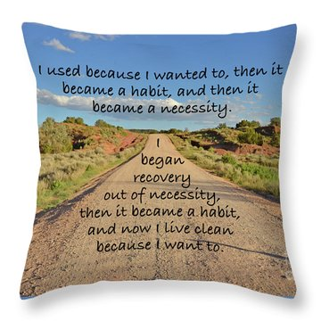 Road To Recovery Throw Pillow