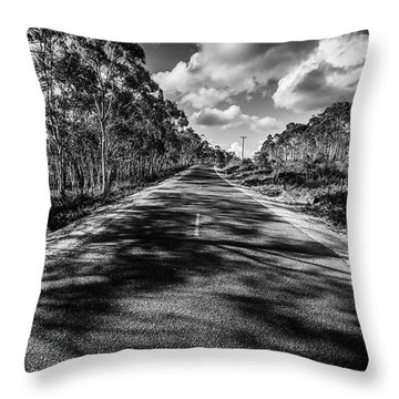 Road To Rossarden Throw Pillow