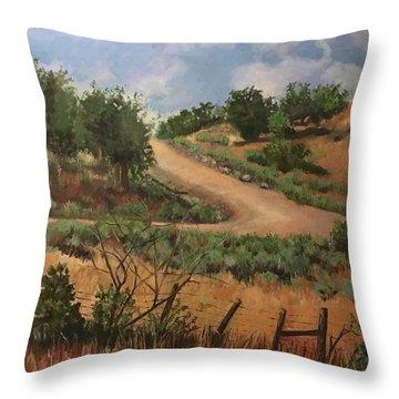 Road To Santa Fe  Throw Pillow