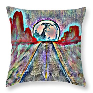 Throw Pillow featuring the painting Road To Sedona 2 by Reed Novotny