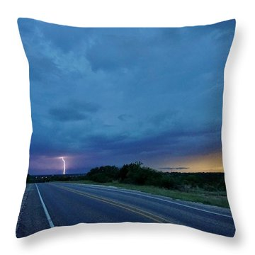 Lightning Over Sonora Throw Pillow