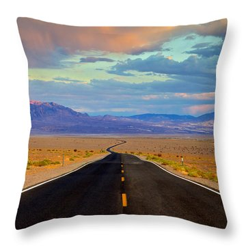 Road To The Dreams Throw Pillow