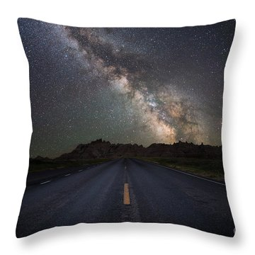 Road To The Heavens Throw Pillow
