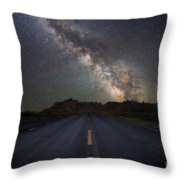 Throw Pillow featuring the photograph Road To The Heavens by Michael Ver Sprill