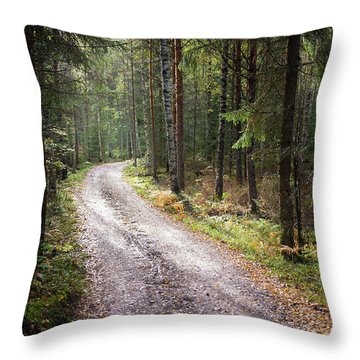 Road To The Light Throw Pillow