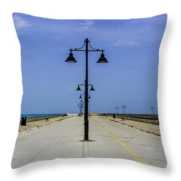 Throw Pillow featuring the photograph Road To The Sea by Paula Porterfield-Izzo