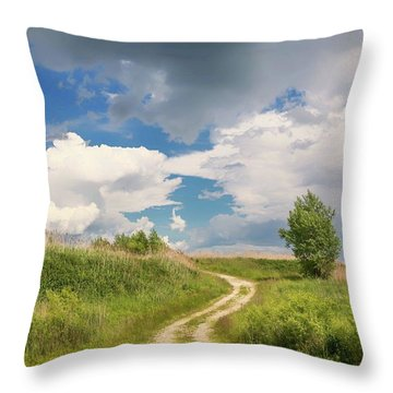Road To The Sky Throw Pillow