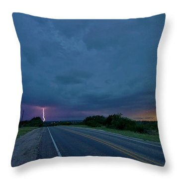 Road To The Storm Throw Pillow