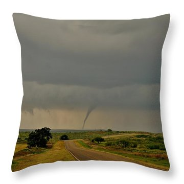 Road To The Twister Throw Pillow