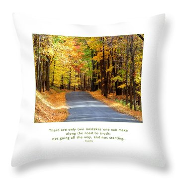 Throw Pillow featuring the photograph Road To Truth by Kristen Fox