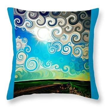 Road To Whimsy Throw Pillow