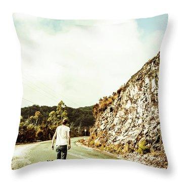 Road Tripping Tasmania Throw Pillow