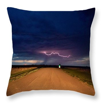 Road Under The Storm Throw Pillow