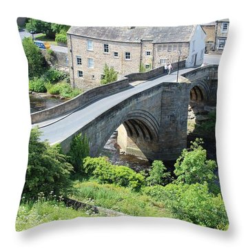Roadbridge Over The River Tees Throw Pillow