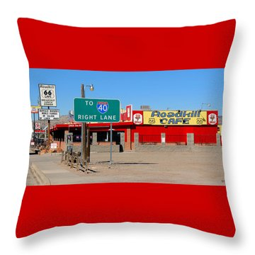 Roadkill Cafe, Route 66, Seligman Arizona Throw Pillow