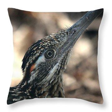 Roadrunner Close-up Throw Pillow