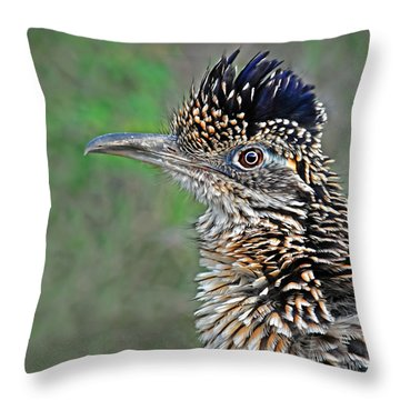 Roadrunner Portrait Throw Pillow