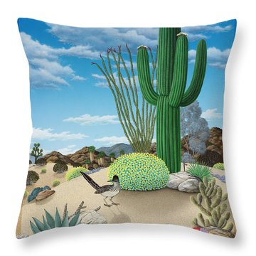 Roadrunner Throw Pillow