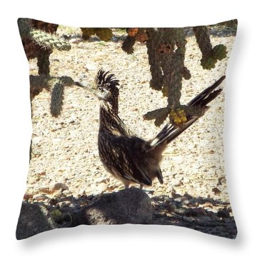 Roadrunners Shade-time Throw Pillow