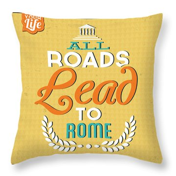 Roads To Rome Throw Pillow