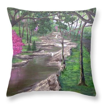 Roadside Park 1  Throw Pillow