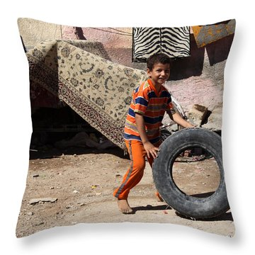 Throw Pillow featuring the photograph Roadside Rescue Is Here by Jez C Self