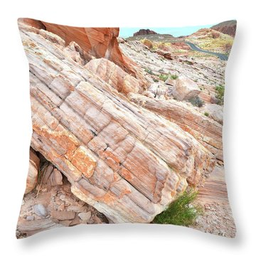 Throw Pillow featuring the photograph Roadside Sandstone In Valley Of Fire by Ray Mathis