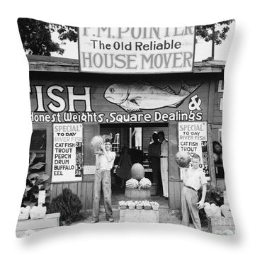 Roadside Stand Near Birmingham, Alabama Throw Pillow by Edward Fielding