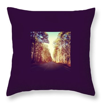Road Throw Pillows