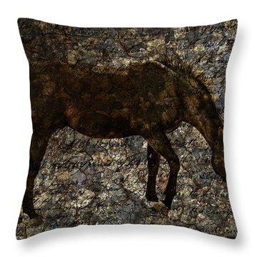 Roan Stallion Throw Pillow