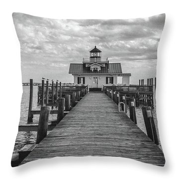 Roanoke Marshes Light Throw Pillow by David Sutton